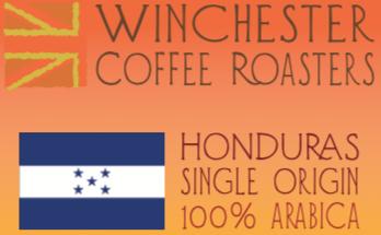 Freshly roasted single origin coffee beans from Honduras.
